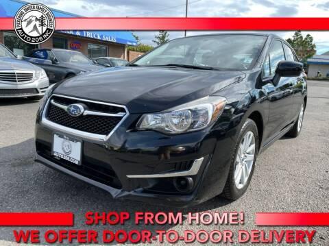 2016 Subaru Impreza for sale at Auto 206, Inc. in Kent WA
