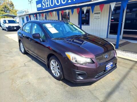 2012 Subaru Impreza for sale at Shogun Auto Center in Hanford CA