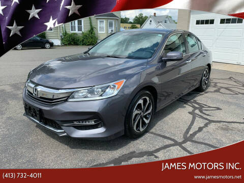 2016 Honda Accord for sale at James Motors Inc. in East Longmeadow MA