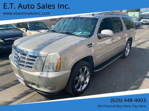 2007 Cadillac Escalade ESV for sale at E.T. Auto Sales Inc. in El Monte CA