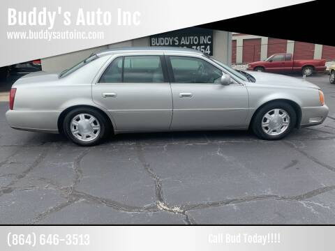 2004 Cadillac DeVille for sale at Buddy's Auto Inc in Pendleton, SC