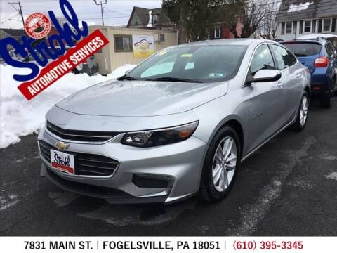 2016 Chevrolet Malibu for sale at Strohl Automotive Services in Fogelsville PA