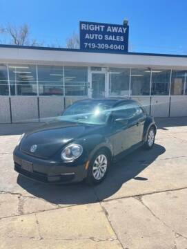 2014 Volkswagen Beetle for sale at Right Away Auto Sales in Colorado Springs CO
