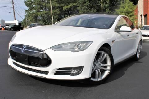 2013 Tesla Model S for sale at Atlanta Unique Auto Sales in Norcross GA