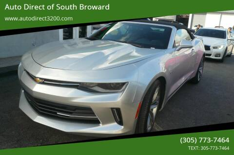 2017 Chevrolet Camaro for sale at Auto Direct of South Broward in Miramar FL