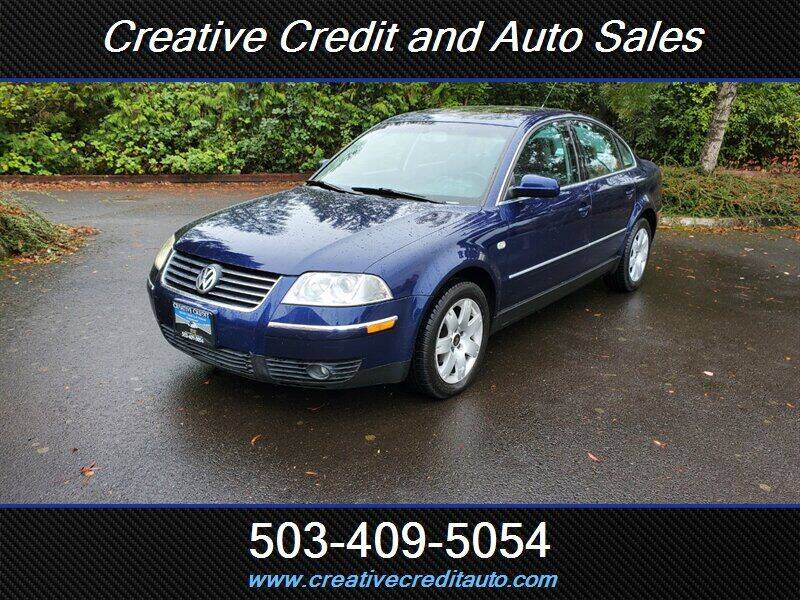 2002 Volkswagen Passat for sale at Creative Credit & Auto Sales in Salem OR