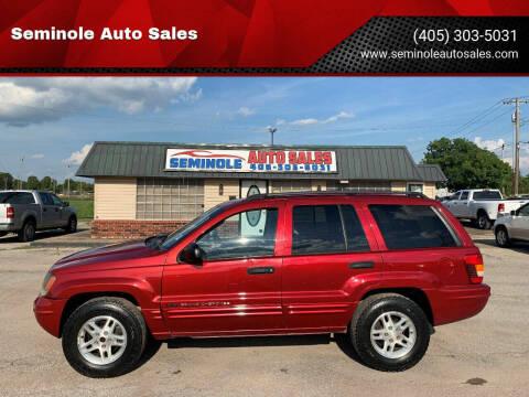 2004 Jeep Grand Cherokee for sale at Seminole Auto Sales in Seminole OK