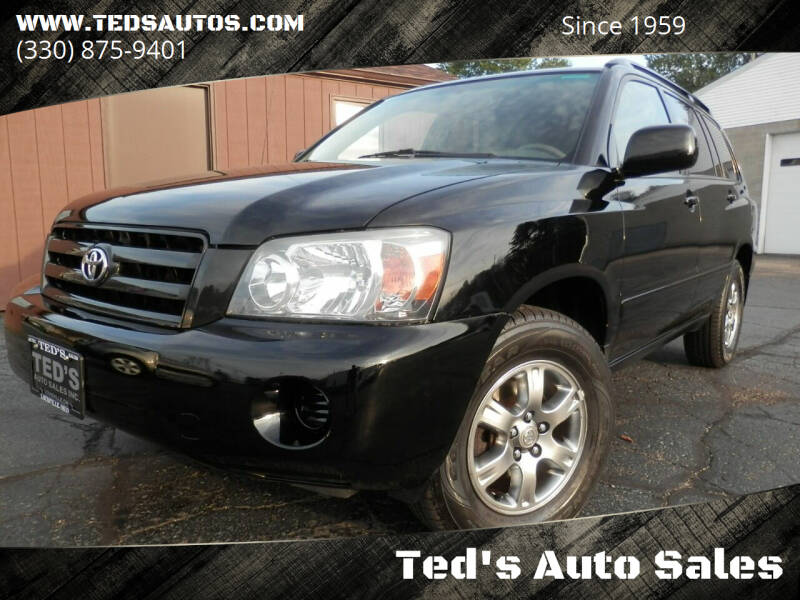 2004 Toyota Highlander for sale at Ted's Auto Sales in Louisville OH
