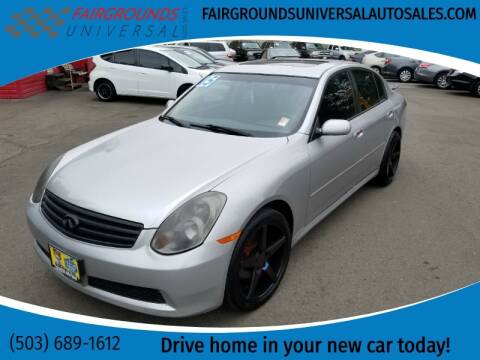 2005 Infiniti G35 for sale at Universal Auto Sales in Salem OR