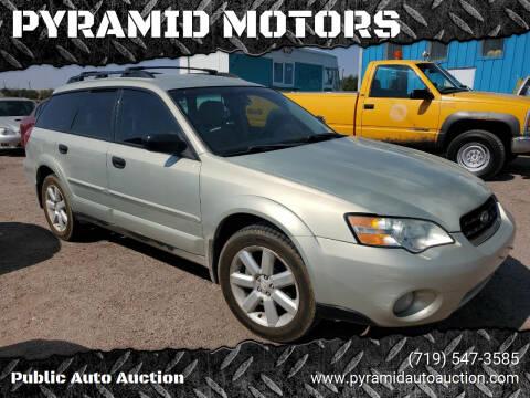 2006 Subaru Outback for sale at PYRAMID MOTORS - Pueblo Lot in Pueblo CO
