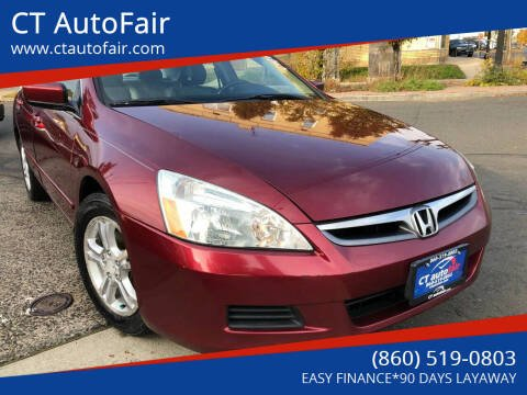 2006 Honda Accord for sale at CT AutoFair in West Hartford CT