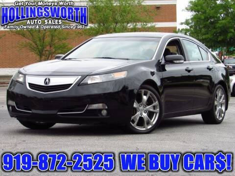 2012 Acura TL for sale at Hollingsworth Auto Sales in Raleigh NC
