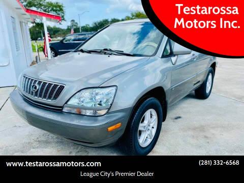 2003 Lexus RX 300 for sale at Testarossa Motors Inc. in League City TX