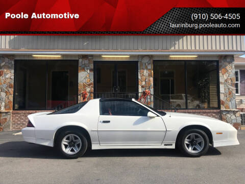 1989 Chevrolet Camaro for sale at Poole Automotive in Laurinburg NC