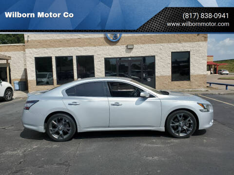 2013 Nissan Maxima for sale at Wilborn Motor Co in Fort Worth TX