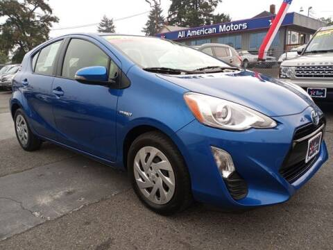2016 Toyota Prius c for sale at All American Motors in Tacoma WA