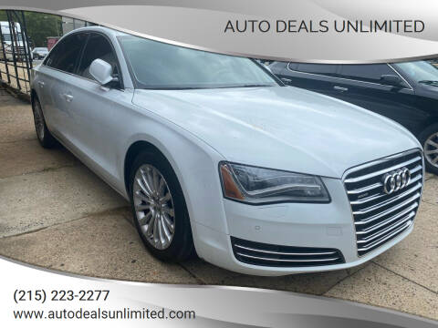 2013 Audi A8 L for sale at AUTO DEALS UNLIMITED in Philadelphia PA
