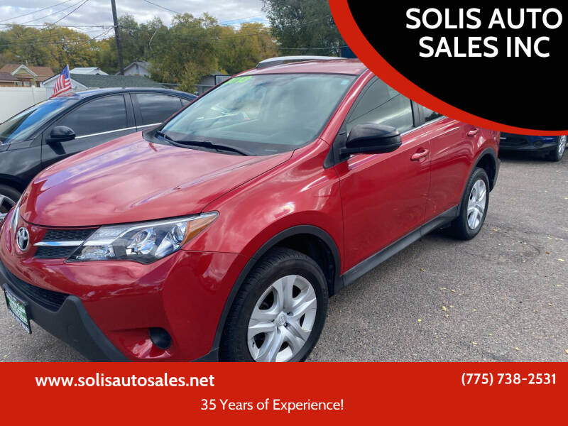 2013 Toyota RAV4 for sale at SOLIS AUTO SALES INC in Elko NV