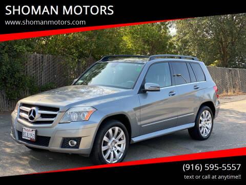2010 Mercedes-Benz GLK for sale at SHOMAN MOTORS in Davis CA