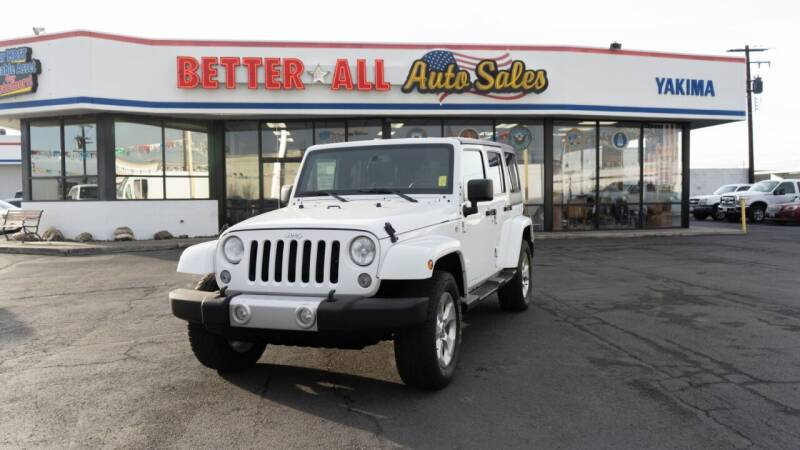 2015 Jeep Wrangler Unlimited for sale at Better All Auto Sales in Yakima WA