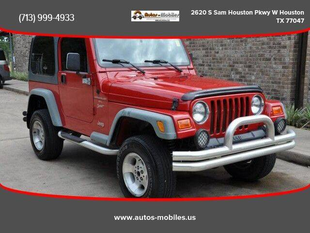 2000 Jeep Wrangler for sale at AUTOS-MOBILES in Houston TX
