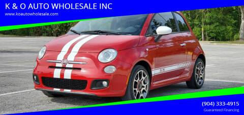 2013 FIAT 500 for sale at K & O AUTO WHOLESALE INC in Jacksonville FL