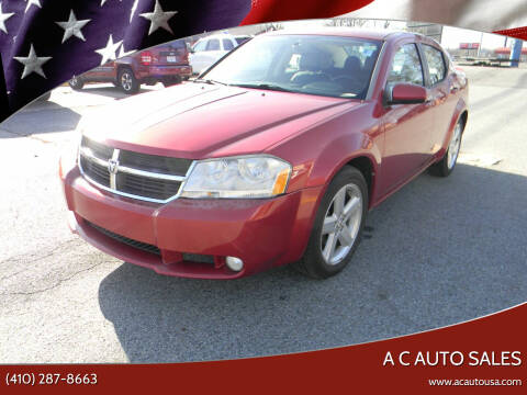 2010 Dodge Avenger for sale at A C Auto Sales in Elkton MD