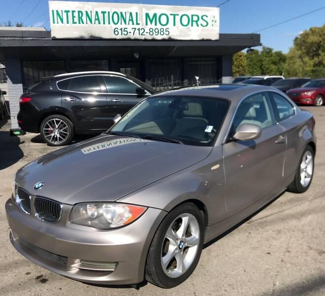 2011 BMW 1 Series for sale at International Motors Inc. in Nashville TN