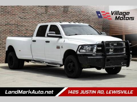 2012 RAM Ram Pickup 3500 for sale at Village Motors in Lewisville TX