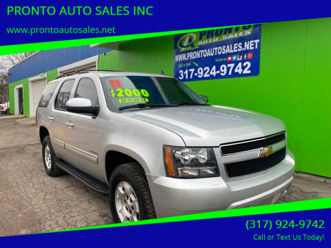 2011 Chevrolet Tahoe for sale at PRONTO AUTO SALES INC in Indianapolis IN