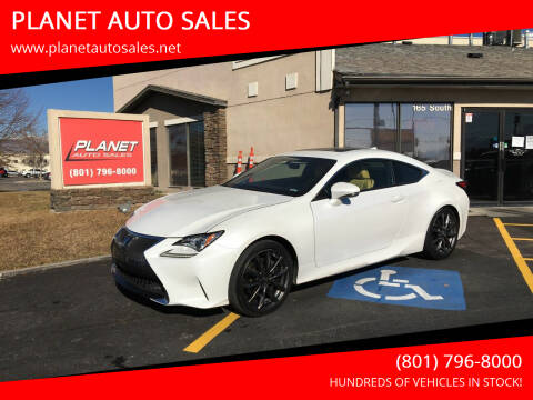 2016 Lexus RC 350 for sale at PLANET AUTO SALES in Lindon UT