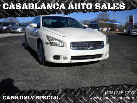 2009 Nissan Maxima for sale at CASABLANCA AUTO SALES in Greensboro NC