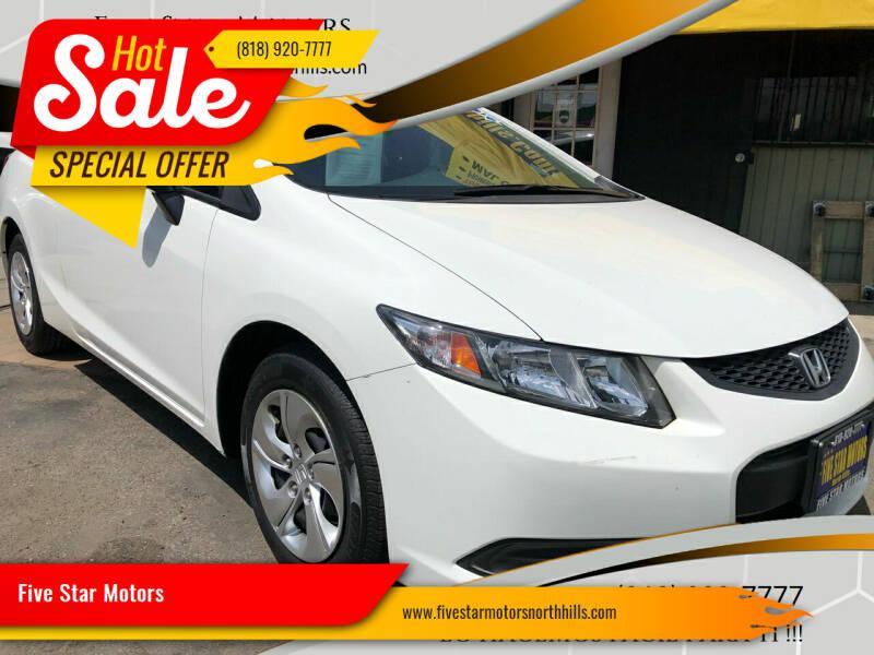2013 Honda Civic for sale at Five Star Motors in North Hills CA