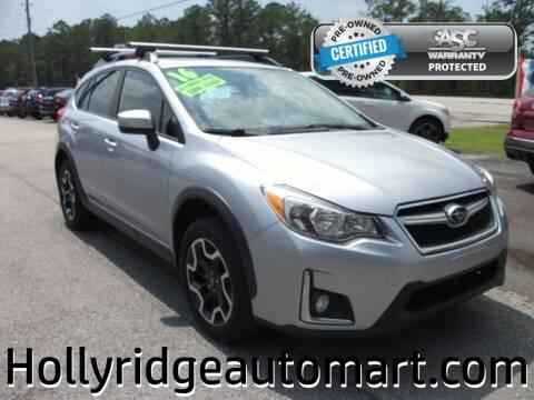 2016 Subaru Crosstrek for sale at Holly Ridge Auto Mart in Holly Ridge NC