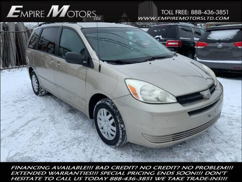 2005 Toyota Sienna for sale at Empire Motors LTD in Cleveland OH