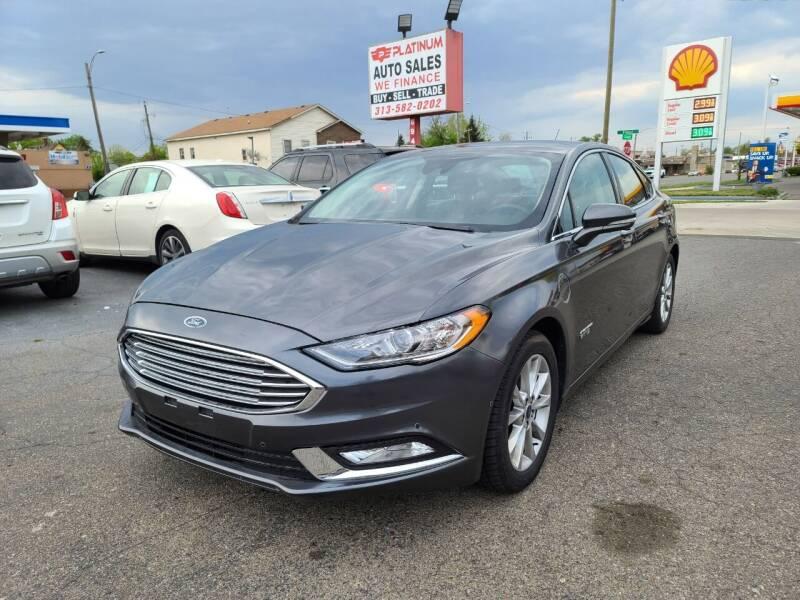 2018 Ford Fusion Energi for sale at PLATINUM AUTO SALES in Dearborn MI
