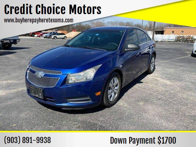 2012 Chevrolet Cruze for sale at Credit Choice Motors in Sherman TX