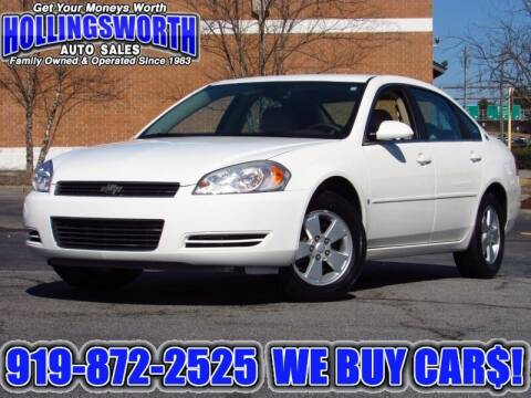 2007 Chevrolet Impala for sale at Hollingsworth Auto Sales in Raleigh NC