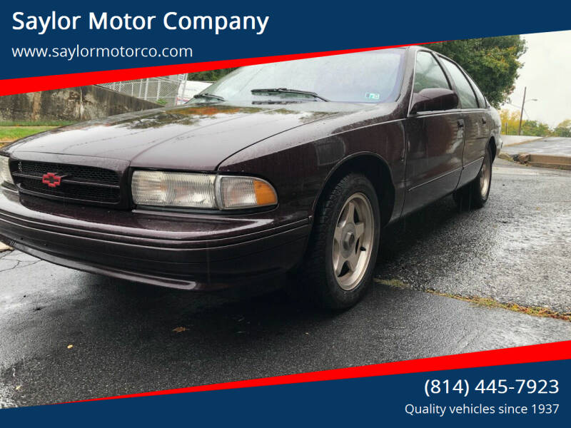 1996 Chevrolet Impala for sale at Saylor Motor Company in Somerset PA