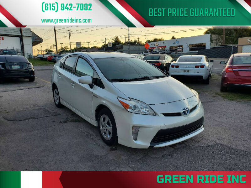 2014 Toyota Prius for sale at Green Ride Inc in Nashville TN