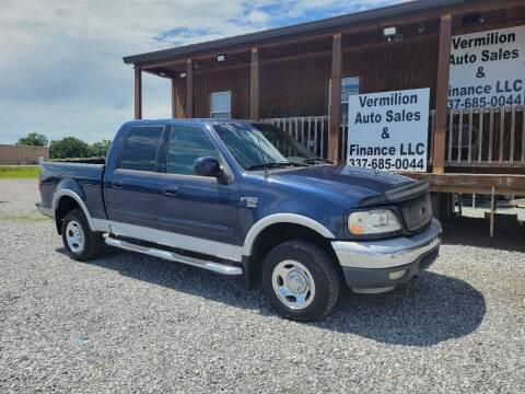 2002 Ford F-150 for sale at Vermilion Auto Sales & Finance in Erath LA