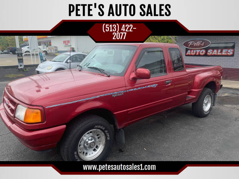 1995 Ford Ranger for sale at PETE'S AUTO SALES - Middletown in Middletown OH