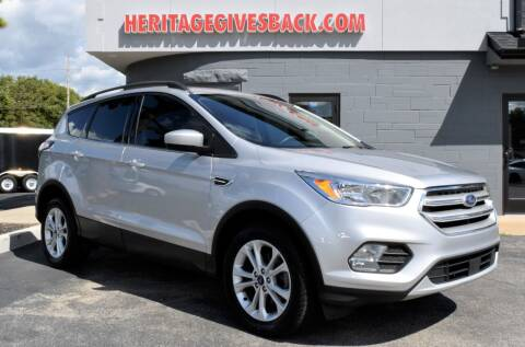 2018 Ford Escape for sale at Heritage Automotive Sales in Columbus in Columbus IN