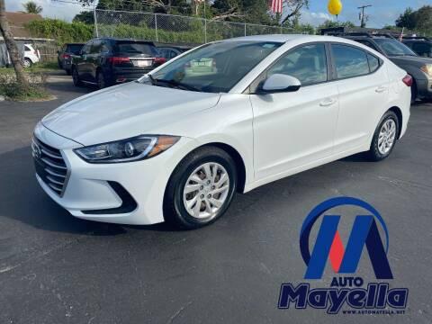 2017 Hyundai Elantra for sale at Auto Mayella in Miami FL