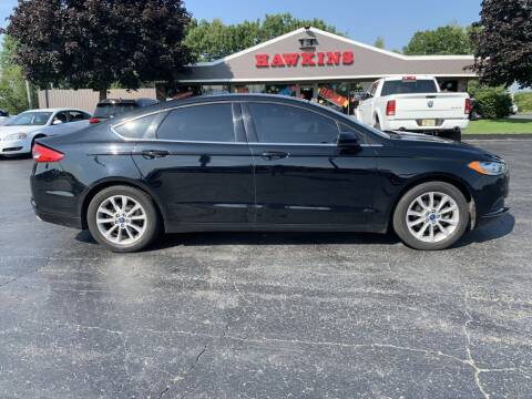 2017 Ford Fusion for sale at Hawkins Motors Sales in Hillsdale MI