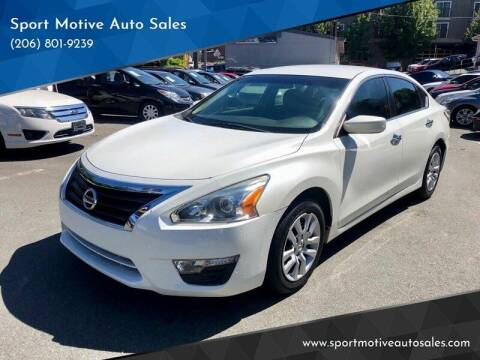 2014 Nissan Altima for sale at Sport Motive Auto Sales in Seattle WA