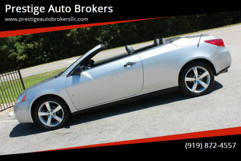 2007 Pontiac G6 for sale at Prestige Auto Brokers in Raleigh NC