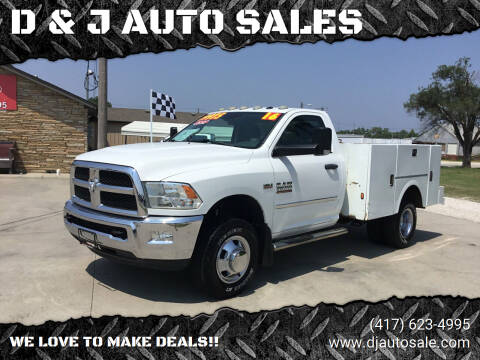 2016 RAM Ram Chassis 3500 for sale at D & J AUTO SALES in Joplin MO