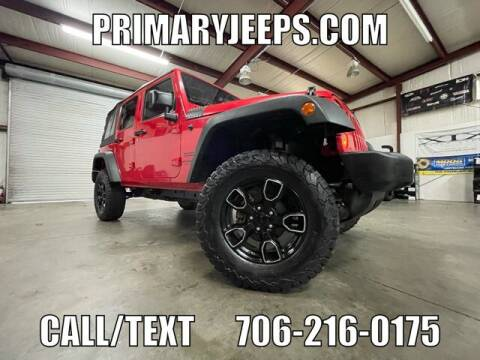 2017 Jeep Wrangler Unlimited for sale at Primary Auto Group in Dawsonville GA