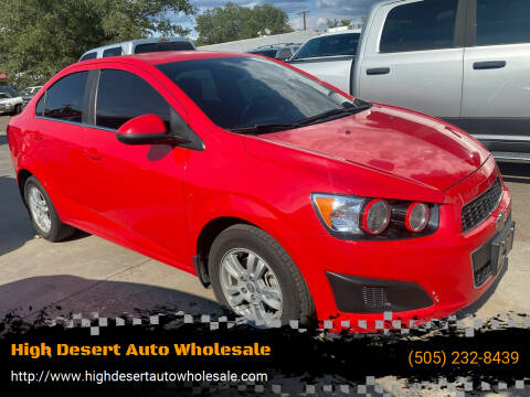 2015 Chevrolet Sonic for sale at High Desert Auto Wholesale in Albuquerque NM